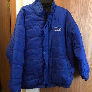 Nike Adult Lg Reversible Black and Blue Jacket